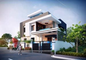 Remarkable 3D Bungalow Elevation Designing From 3D Power
