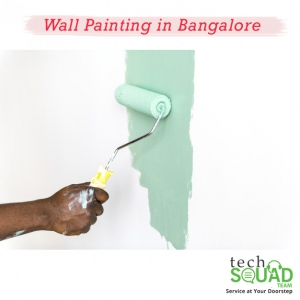 Discounted wall painting services with TechSquadTeam
