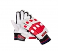 BDM Galaxy Batting Gloves White Red and Black Youth