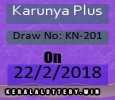 Results Of Kerala Lottery-Karunya Plus KN-201 Draw on 22-2-2