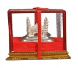 Nutristar Home CHARHINAR Showpiece Pure Brass with Silver Pl