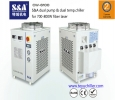 S&A dual pump chiller to cool laser head and dc power