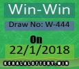 Todays Kerala Lottery Results-Win-Win W-444 Draw on 22-1-201