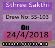 Kerala Lottery Results-SthreeSakthi SS-103 Draw on 24-4-2018