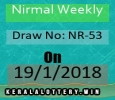 Lottery Results of Kerala-Nirmal Weekly NR-53 Draw on 19-1-2