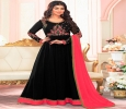 Breezy black santoon and nazneen party wear designer anarkal