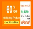 Waxspace Rs.40 Cheap Web Hosting India