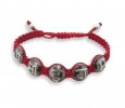 Om Sai Ram Mantra Bracelet in Silver with Diamond