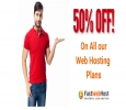 Get 50% off on all web hosting plans at fastwebhost