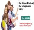 MBA Distance Education | MBA Correspondence Course