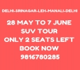 Srinagar leh package from Ex Delhi