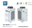 S&A CNC router chiller with water filter installed and r410a