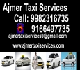 Ajmer taxi, Online taxi provider in ajmer, 24 hours taxi ser