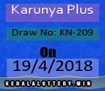 Results Of Kerala Lottery-Karunya Plus KN-209 Draw on 19-4-2