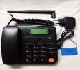 GSM fixed wireless dual sim phone built in FM Radio with bac