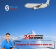 Avail First Class Charter Air Ambulance Service in Raipur