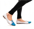 Buy Clarice Blue And Grey Ballet Flats at PAIO Shoes