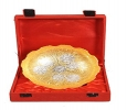 Nutristar Pure Brass Bowl Silver and Gold Plated Gift Box Di