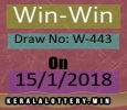 Lottery Result of Kerala Lottery Today-Win-Win W-443 Draw on