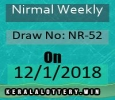 Todays Kerala Lottery Results-Nirmal Weekly NR-52 Draw on 12