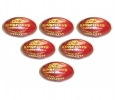 BDM King Fisher League Leather Cricket Ball 6 Ball Set