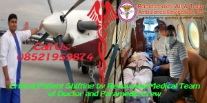 Air Ambulance Service in Raipur to Emergency Patient Transfe