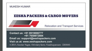 Movers and Packers in Visakhapatnam,Vizag | EESHA Packers