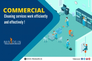 Opt for best commercial cleaning services-Themaidsin
