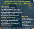 IT Management & Cyber security Live online Training & Certif