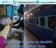 Safest Patient Transfer Train Ambulance from Patna to Delhi