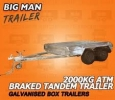 10X5 TANDEM AXLE NO CAGE BRAKED BOX TRAILERS GALVANISED CAGE