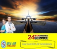 Avail Sky Air Ambulance in Ranchi with Dedicated Medical Sup