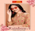 Manufacturer and wholesaler of Rayon Premium Rainbow Kurti