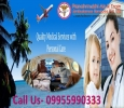 Charter Air and Train Ambulance Cost from Guwahati to Delhi