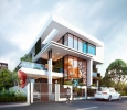 Remarkable 3D Bungalow Elevation Designing From One Of The T