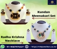 Buy Kundan Meena Necklace Set at Discount Rate MK Jewellers