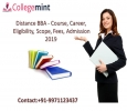 Distance BBA - Course, Career, Eligibility, Scope, Fees, Adm
