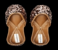 Buy Copper Sequins Handcrafted Juttis at Thread Stories