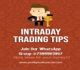 Stock Cash Intraday Tips ! Don't delay – Invest today